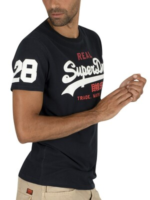 Superdry Vintage Logo Tri T-Shirt - Eclipse Navy