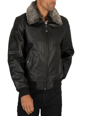 Schott Leather Jacket - Black