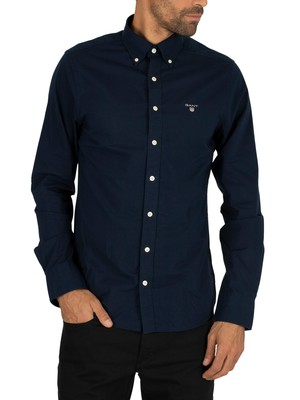 Gant The Broadcloth Slim Shirt - Marine