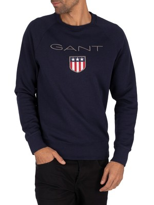 GANT Shield Sweatshirt - Evening Blue