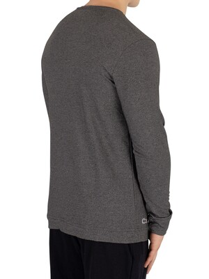 Lacoste Longsleeved Buttoned Pyjama Top - Dark Grey