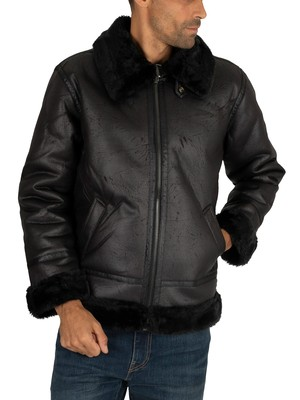 Alpha Industries B3 Flight Jacket - Black/Black