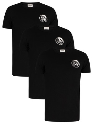 Diesel 3 Pack Crew T-Shirt - Black
