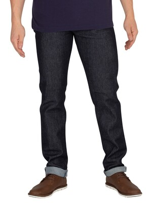 Edwin ED-80 CS Slim Tapered Jeans - Blue Denim Rinsed