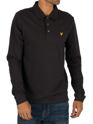 Lyle & Scott Longsleeved Poloshirt - True Black