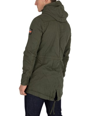 Superdry New Military Parka Jacket - Forest Night