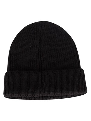The North Face Black Logo Box Beanie