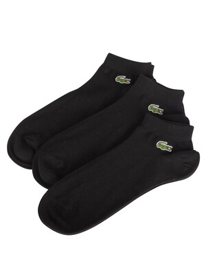 Lacoste 3 Pack Sport Inside Socks - Black