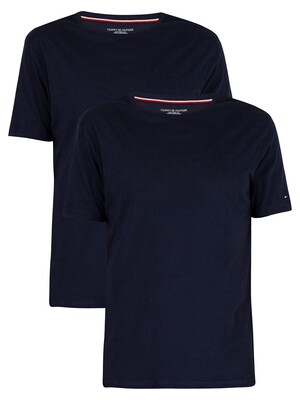 Tommy Hilfiger 2 Pack Cotton T-Shirts - Peacoat