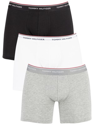 Tommy Hilfiger 3 Pack Premium Essentials Boxer Briefs - Grey Heather/Black/White