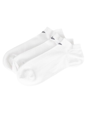 Emporio Armani 3 Pack Inside Socks - White