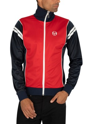 Sergio Tacchini Scirocco Logo Track Jacket - Red/Navy