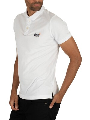 Superdry Classic Pique Polo Shirt - Optic White