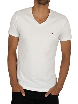 Tommy Hilfiger Core Stretch Slim V-Neck T-Shirt - Bright White