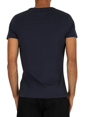 Tommy Hilfiger Core Stretch Slim V-Neck T-Shirt - Navy Blazer