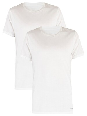 Calvin Klein 2 Pack Cotton T-Shirts - White/White