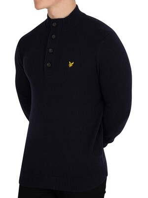 Lyle & Scott 1/4 Zip Jumper - Dark Navy