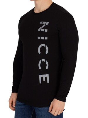 Nicce London Rauma Longsleeved T-Shirt - Black
