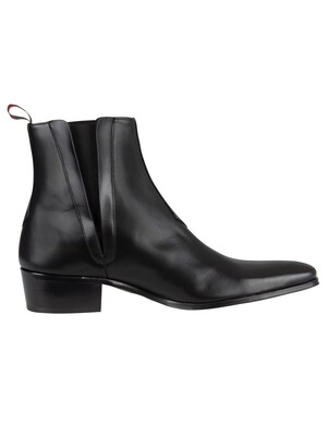 Jeffery West Carlito Leather Boots - Black