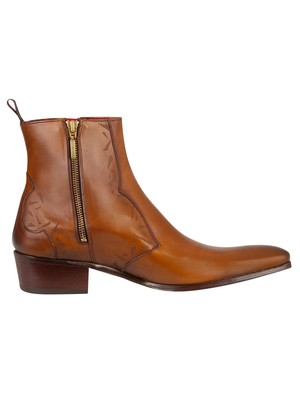 Jeffery West Carlito Leather Boots - Tan