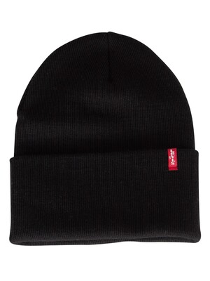 Levi's Slouchy Red Tab Beanie - Regular Black