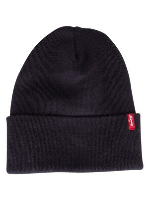 Levi's Slouchy Red Tab Beanie - Navy Blue