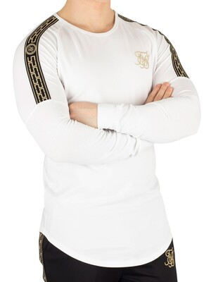 Sik Silk Longsleeved Gym T-Shirt - White