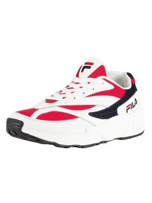 Fila 94 Low Trainers - White/Navy/Red