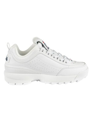 Fila Disruptor II Premium Trainers - White/Navy/Red