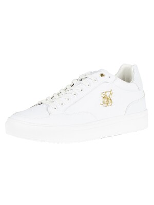 Sik Silk Phantom Anaconda Leather Trainers - White