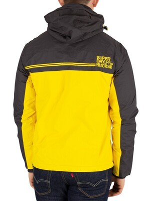 Superdry Arctic Exon Windcheater Jacket - Dark Grey/Sun Yellow