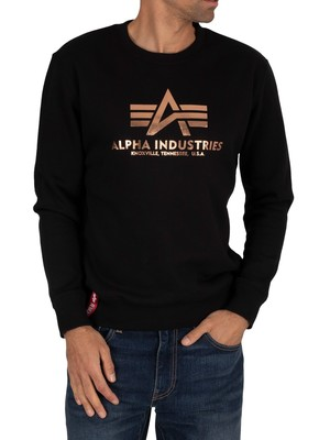 Alpha Industries Basic Sweatshirt - Black/Gold