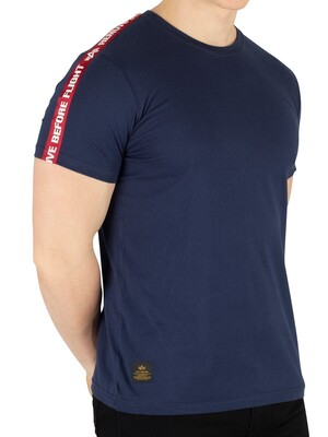 Alpha Industries Remove Before Flight Tape T-Shirt - New Navy