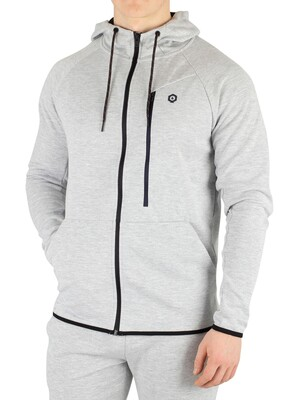 Jack & Jones Jans Zip Hoodie - Light Grey Melange