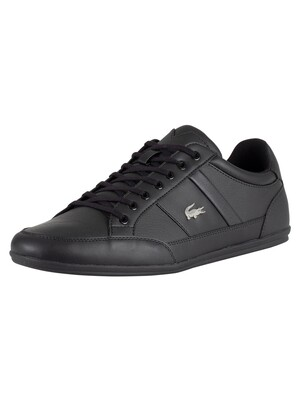 Lacoste Chaymon BL 1 CMA Leather Trainers - Black/Black