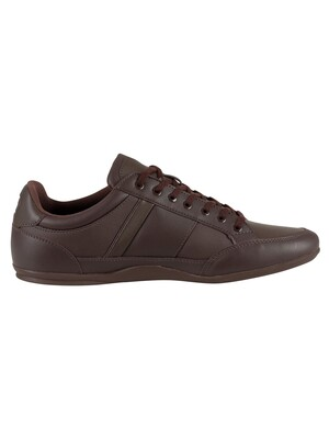 Lacoste Chaymon BL 1 CMA Leather Trainers - Dark Brown