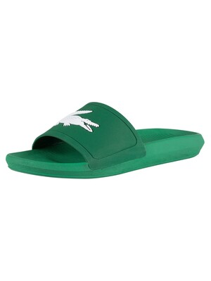 Lacoste Croco 119 1 CMA Sliders - Green/White