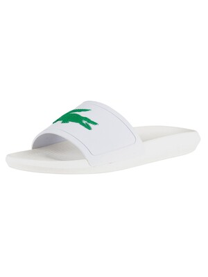 Lacoste Croco 119 1 CMA Sliders - White/Green