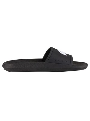 Lacoste Croco 119 1 CMA Sliders - Black/White