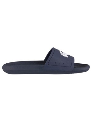 Lacoste Croco 119 1 CMA Sliders - Navy/White