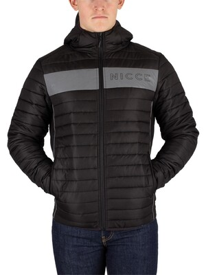 Nicce London Jackson Jacket - Black Reflective