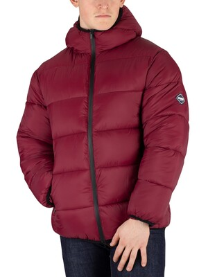 Puffa Hooded Jacket - Zinfandal