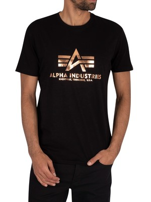 Alpha Industries Basic T-Shirt - Black/Gold