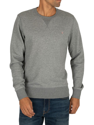 Gant Original Sweatshirt - Dark Grey Melange