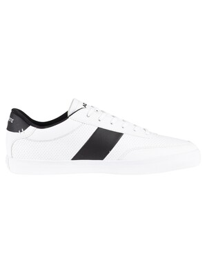 Lacoste Court-Master 119 2 Leather Trainers - White/Black