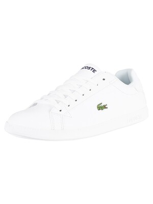Lacoste Graduate BL 1 Leather Trainers - White/White