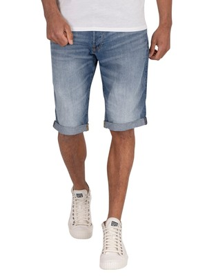 G-Star 3301 Denim Shorts - Medium Aged
