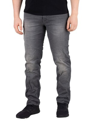 Jack & Jones Tim Slim Fit Indigo Knit Jeans - Grey Denim