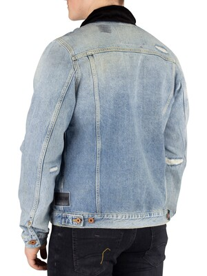 Scotch & Soda Ams Blauw Trucker Jacket - Altitude
