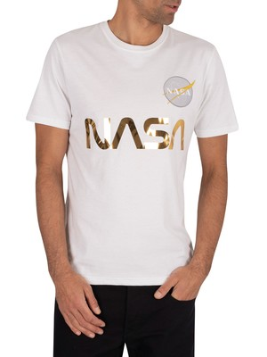 Alpha Industries NASA Reflective T-Shirt - White
